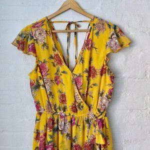 Band of Gypsies Floral Maxi Wrap Dress Size M